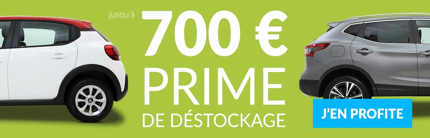 Du 1er au 20 mai, bénéficiez d'une prime de déstockage : jusqu'à 700€ de remise additionnelle !